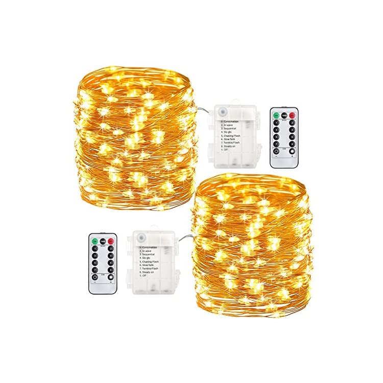 2-Pack-Fairy-Lights-Christmas-Decor-33-Ft-100-Led-Battery-Operated-Christmas-Lights-with-Remote-Twinkle-Lights-Waterproof-8-Modes-Firefly-String-Lights-for-Bedroom-Party-Wedding-Decorations