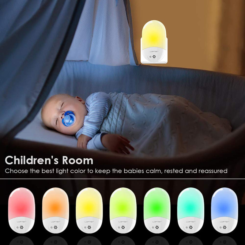 Plug-in-Night-Light-for-Kids,-Compact-RGB-Color-Changeable-LED-Night-Lamp-with-Dusk-to-Dawn-Sensor,-Warm-White-Night-Lighting-for-Baby-Room,-Bedroom,-Hallway,-Kitchen,-Bathroom,-Stairs-(2-Pack)