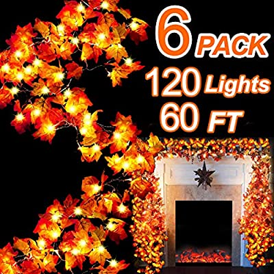 6-Pack-Thanksgiving-Decor-Maple-Leaves-Garland-LED-String-Lights---120-LED-Lamps-+-120-Autumn-Maple-Leaves-60-Ft-String-Lights-Indoor-Outdoor-Use-Lighted-Christmas-Holiday-Decoration-Ornament