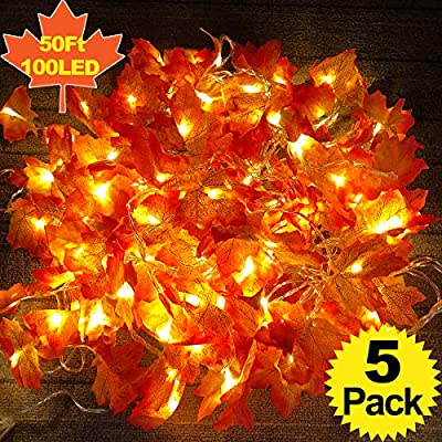 5-Pack-Maple-Leaves-Garland-String-Lights,Thanksgiving-Decorations-Fall-String-Lights-with-50-Ft/100-LED-Maple-Leaves-for-Indoor-Outdoor-Autumn-Harvest-Party-Festival-Home-Patio-Thanksgiving-Decor