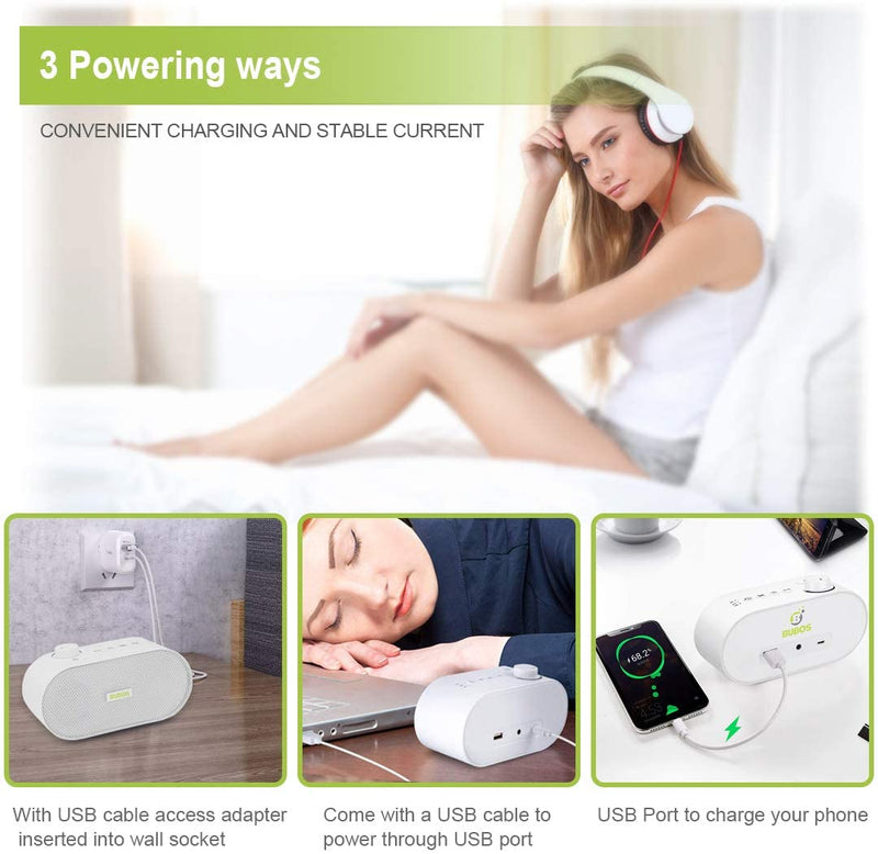 Bubos-White-Noise-Machine,-Sound-Machine-for-Sleeping-&-Relaxing,-26-S