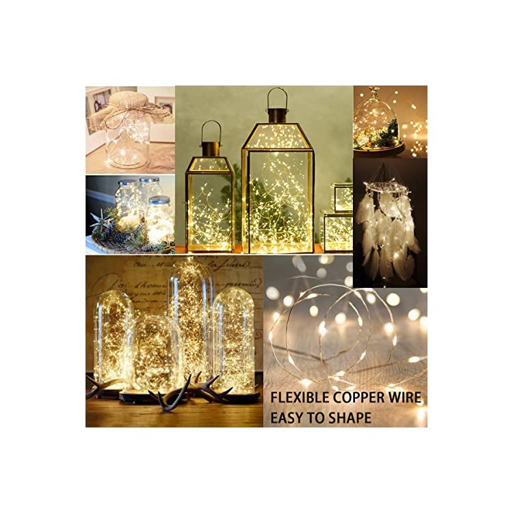 2PCS-Battery-Operated-Fairy-Lights,-100-LEDs,-32Ft/10M-Battery-Powered-Copper-Wire-Decorative-String-Lights-with-Flashing-Mode-for-Indoor/Outdoor-Wedding,-Gardens,-Bedroom,-Patio,-Christmas