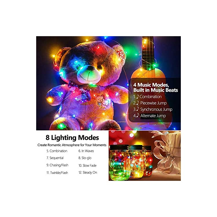 Fairy-Lights-Battery-Operated-String-Lights-with-Remote-Control-Timer-Waterproof-Copper-Wire-String-Lights-for-Bedroom-Indoor,2-Pack-16.4-ft-50-LED's,-Multicolor-12-Modes