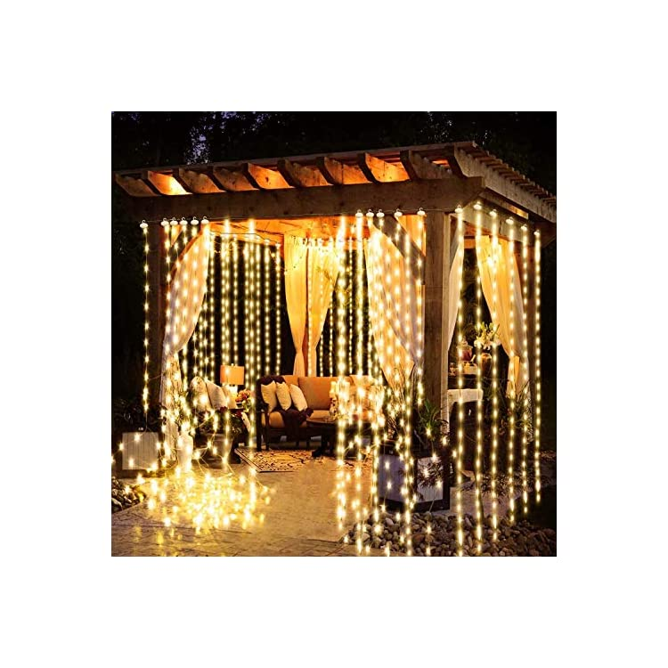 Copper-Wire-Curtain-Window-Led-Fairy-Lights-String-Outdoor-Waterproof-with-Remote,Warm-White,Timer,Dimmable,8-Modes,6.6ftx6.6ft-200Leds,-Bedroom-Christmas-Holiday-Wedding-Party-Birthday-Porch-Decor