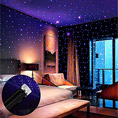 Star-Projector-Night-Light,-Auto-Roof-Lights,-Adjustable-Romantic-Violet-Blue-Interior-Car-Lights,-Portable-USB-Night-Light-Decorations-for-Car,-Ceiling,-Bedroom