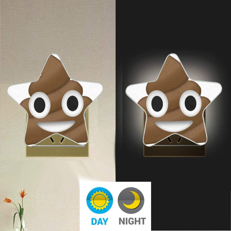 KUWT-Plug-in-LED-Night-Light-Funny-Happy-Poop-Emoji-Night-Light-Lamp-w