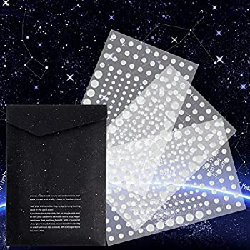 Realistic-3D-Domed-Glow-in-The-Dark-Stars,606-Dots-for-Starry-Sky,-Per