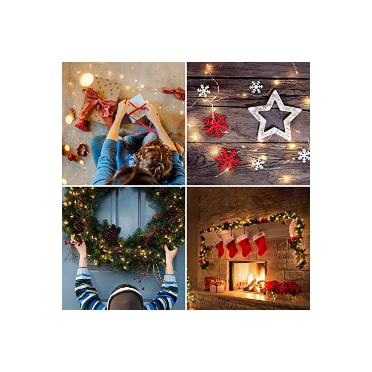 LE-Fairy-Light-Battery-Operated,-Warm-White,-3.3ft-20-Micro-Starry-LED,-Waterproof-Decorative-Cooper-Wire-String-Light-for-Indoor-Outdoor-Wedding,-Party,-Bedroom,-Mason-Jar,-Craft-and-More,-Pack-of-16