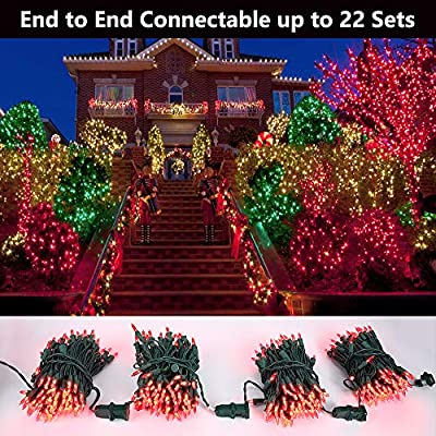 Red-Christmas-Lights,-33ft-100-LED-Connectable-Christmas-String-Light,-120V-UL-Certified-LED-Light-String-for-Indoor-&-Outdoor,-Valentine's-Day,-Xmas-Tree,-Garden,-Party-and-Holiday-Decoration