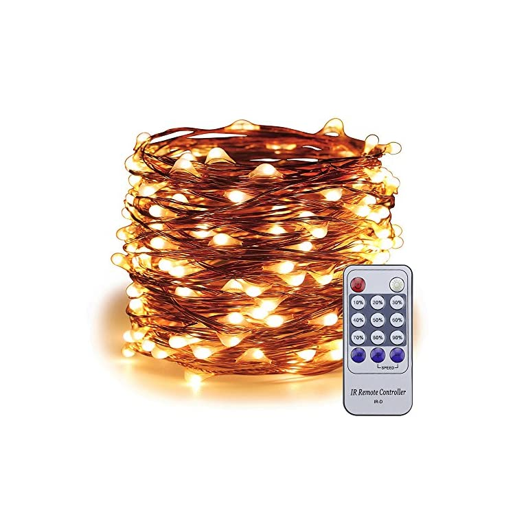 Dimmable-Led-String-Lights-Plug-In,-99ft-300-LED-Remote-Copper-Wire-Starry-Fairy-Lights-Christmas-Decorative-Lights-for-Bedroom,-Patio,-Indoor,-Party,-Garden-(Warm-White)