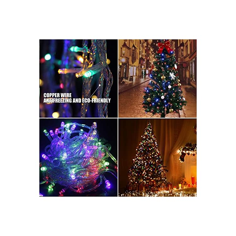 200LED-String-Lights-66ft-20M-Memory-Function-Twinkle-Decorative-Lights-8-Flashing-Changing-Modes-Safe-UL-Indoor/Outdoor-Transparent-Line-Fairy-Lights-for-Christmas-Festival-Decoration,-Colorful