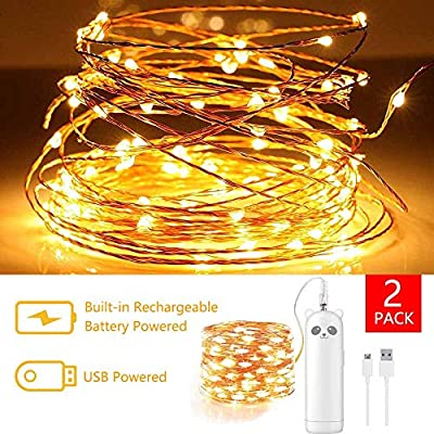 LED-Fairy-String-Lights-Rechargeable-Battery-Operated,2pack-16ft/50-LED-mini-Battery-Powered-Twinkle-Firefly-Lights-Small-Decorative-String-Lights-for-Bedroom-Party-Centerpiece-Indoor(Warm-White)