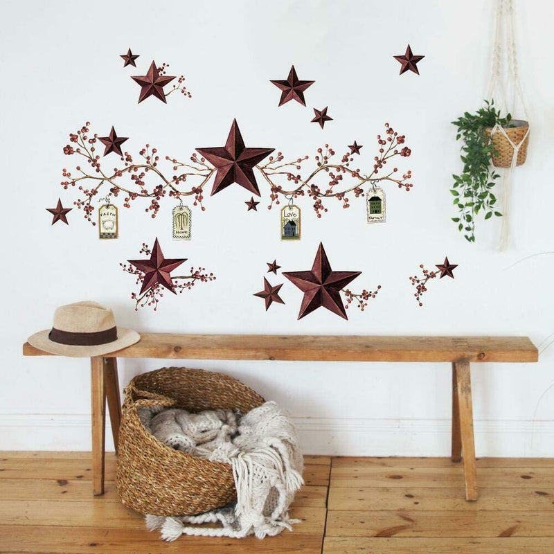 Country-Stars-&-Berries-Peel-and-Stick-Wall-Decals---RMK1276SCS