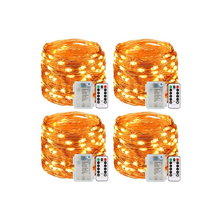 Fairy-String-Lights,-4-Pack-Fairy-Lights-3AA-Battery-Operated,-16.5ft-50LED-Christmas-Lights-Copper-Wire-Firefly-Moon-Lights-IP65-for-Party-Christmas-Decorations