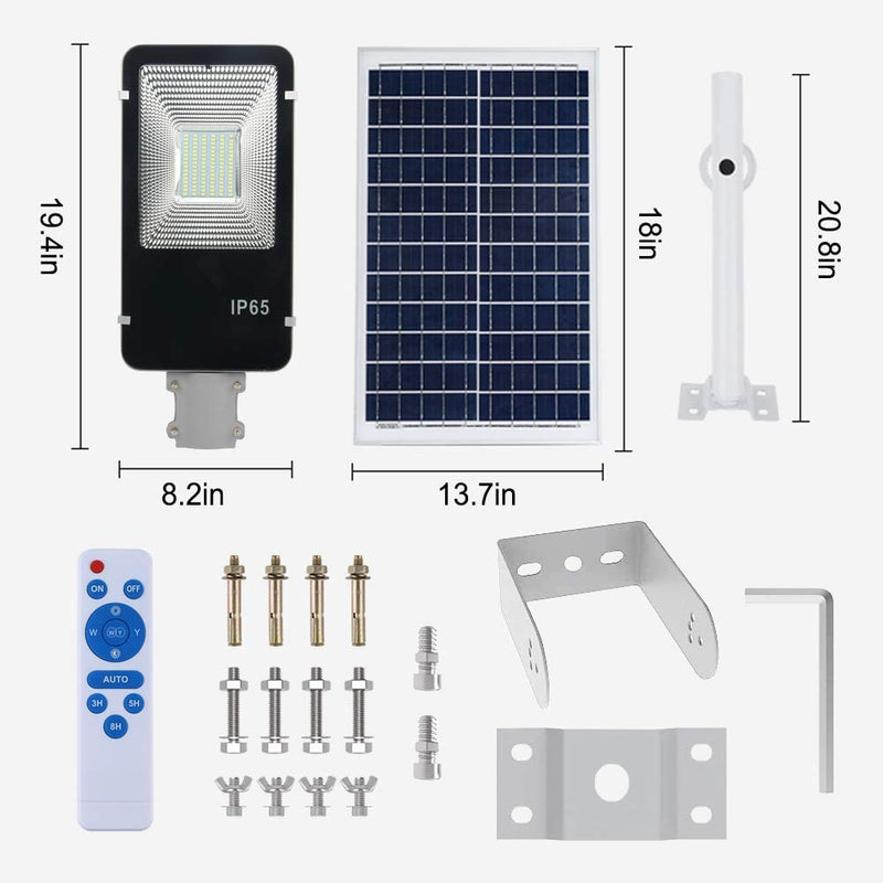 Solar-Street-Light-60W,Dusk-to-Dawn-Solar-Security-Lamp-6500K-IP65-Wat