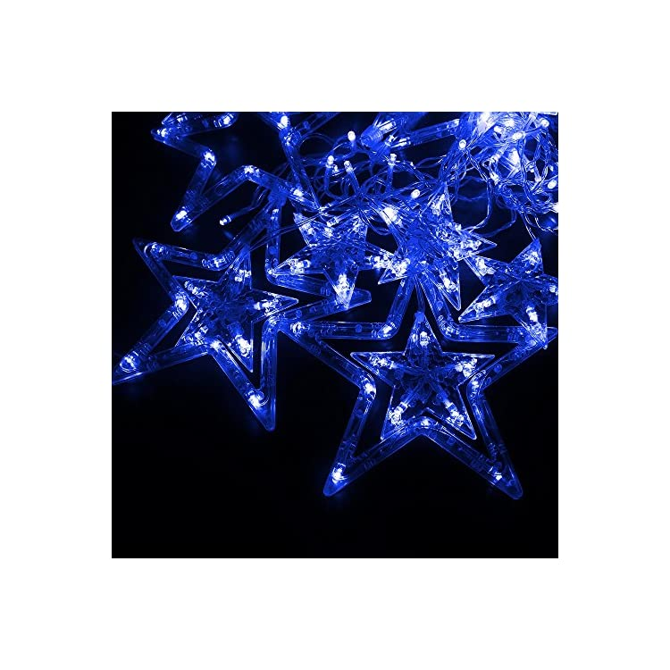 LED-Star-Curtain-String-Light,-138-LED-Fairy-Hanging-Strip-Lamp-Window-Christmas-Light-for-Bedroom-Kids-Room-Wedding-Party-Hallowen-Birthday-Tree-Supplies