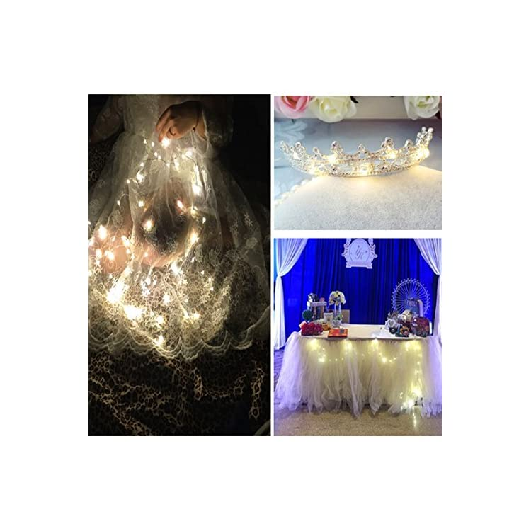 6-PCS-Fairy-String-LED-Lights-Battery-Operated---7.2ft-20-LEDs-Firefly-Starry-Lights-for-Costume-Wedding-Bedroom-Halloween-Easter-Christmas-Decoration---Warm-White
