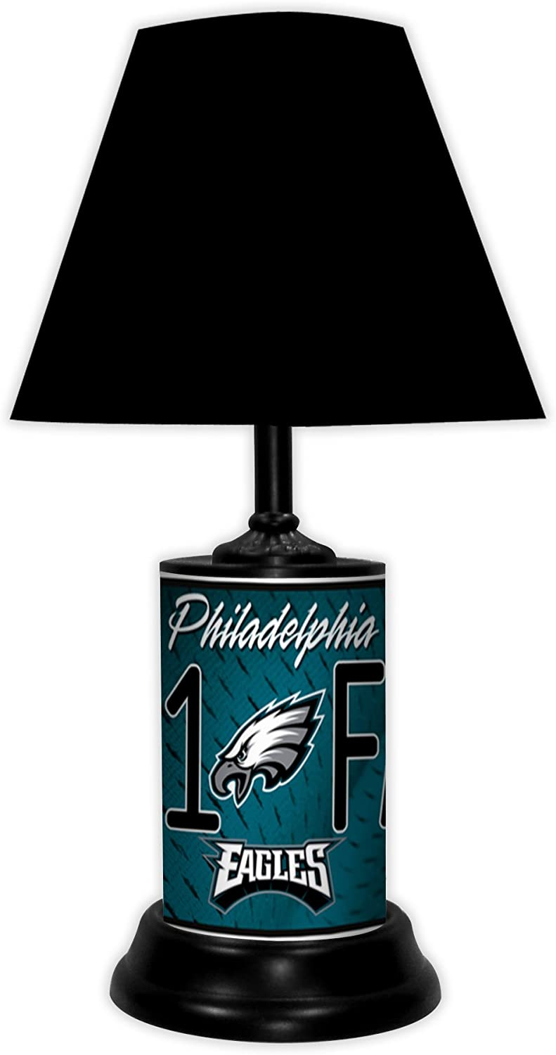 Philadelphia-Eagles-NFL-Desk/Table-Lamp-with-Black-Shade