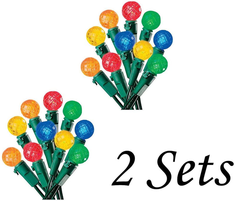 2-Sets-of-Celebrations-Battery-Operated-LED-Globe-Multicolored-Light-Strings---Indoor---30-Lights-and-9.5-Feet-Long-on-Each
