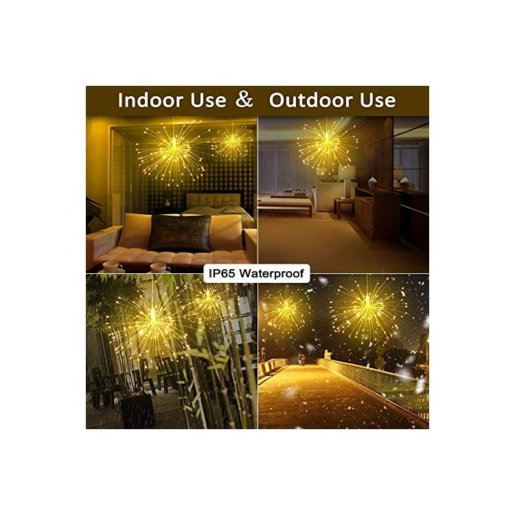 2-Pack-LED-Decor-Firework-String-Lights,-150-LED-Dimmable-Fairy-Lights,-Twinkle-Starburst-Lights,-Waterproof-Battery-Operated-with-Remote-Control-for-Home,-Patio,-Parties,-Wedding