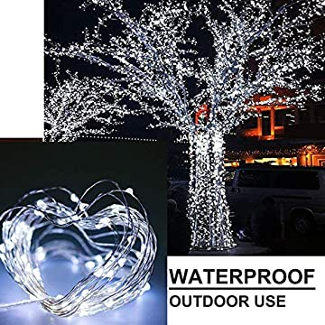 YITING-4-Pack-33Ft-100-LED-Fairy-Lights-Battery-Operated-with-Remote-Control-Timer-8-Modes-Waterproof-Copper-Wire-Twinkle-String-Lights,-for-Bedroom-Wedding-Chirstmas-Decor-(Cool-White)