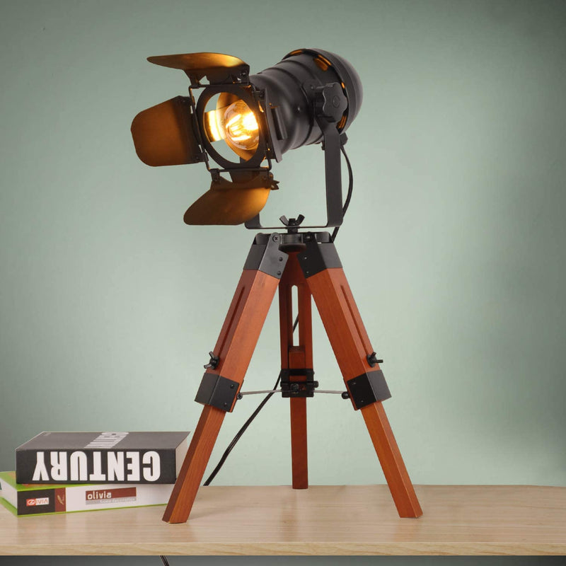 Decoluce-Industrial-Tripod-Floor-Table-Lamp-Vintage-Wood-Cinema-Search