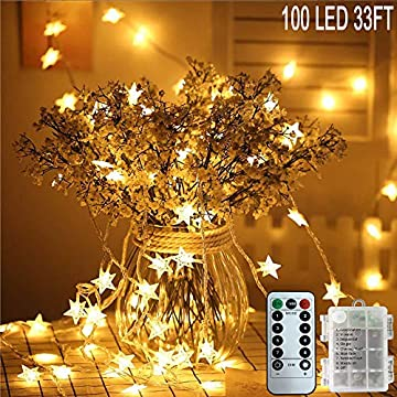 Flyonsea-Star-String-Lights-Waterproof-24.6ft-50-LED-Christmas-LED-String-Lights-with-Remote-&-Timer-Battery-Operated-Fairy-String-Lights-for-Bedroom-Indoor-&-Outdoor-Garden-Wedding-(Warm-White)