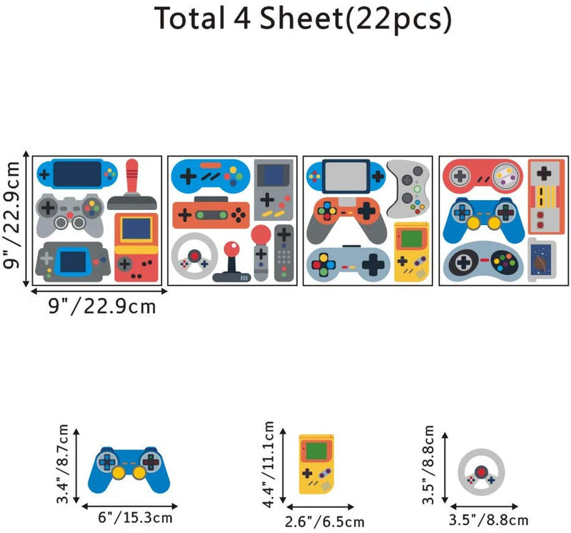IARTTOP-Video-Game-Wall-Decal-(22pcs),-Creative-Gaming-Controller-for-