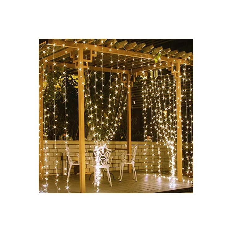 600-LED-Curtain-Lights-Fairy-Starry-String-Lights-Window-Backdrop-Christmas-Wall-Bedroom-Wedding-Birthday-Party-Decorations,-Warm-White