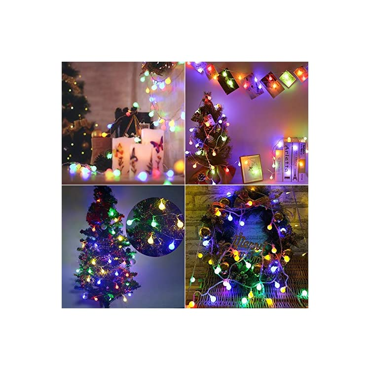 2-Pack-Multicolor-Christmas-Lights,-50-LED-17.07ft-Globe-String-Lights-Battery-Powered,-Waterproof-8-Modes-Ball-Lights-for-Indoor/Outdoor,-Wedding-Party,-Dorm-Room,-Bedroom,-Xmas-Decor