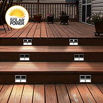 SUNSTEP-Solar-Outdoor-Stainless-Steel-LED-Lights---Set-of-2-(Medium)