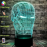 Iron-Man-Mask-Head-Cartoon-Table-Lamp-for-Boy-Bedroom-Marvel-Avengers-Figure-Comic-Shade-Switch-3D-Visual-LED-Bulb-Home-Night-Light-Party-Illusion-Mood-Lava-Kids-Holiday-Toy-Boy-Gift(Iron-Man-Head)