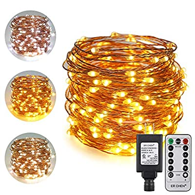 ErChen-Dual-Color-LED-String-Lights,-66-FT-200-LEDs-Plug-in-Copper-Wire-8-Modes-Dimmable-Fairy-Lights-with-Remote-Timer-for-Indoor-Outdoor-Christmas-(Warm-White/White)