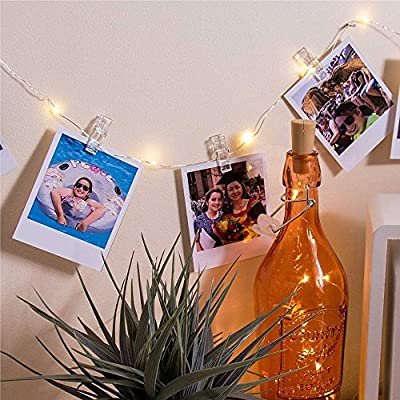 20-LED-Photo-Clip-String-Lights:-(7ft-Warm-White)-Decorative-Battery-Powered-Wall-Hanging-Indoor/Outdoor-Fairy-String-Twinkle-Lights-for-Photos,-Cards,-Notes,-Artwork