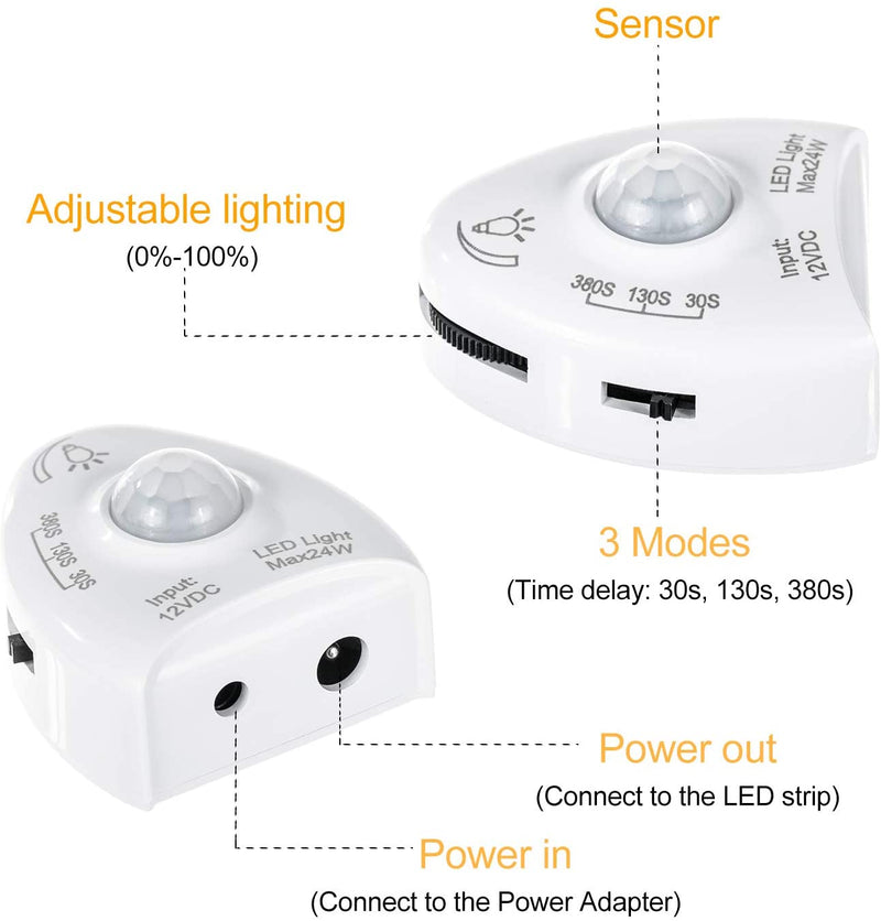 Replaceable-Motion-Sensor-for-GZBTECH-Under-Bed-Warm-White-Strip-Light