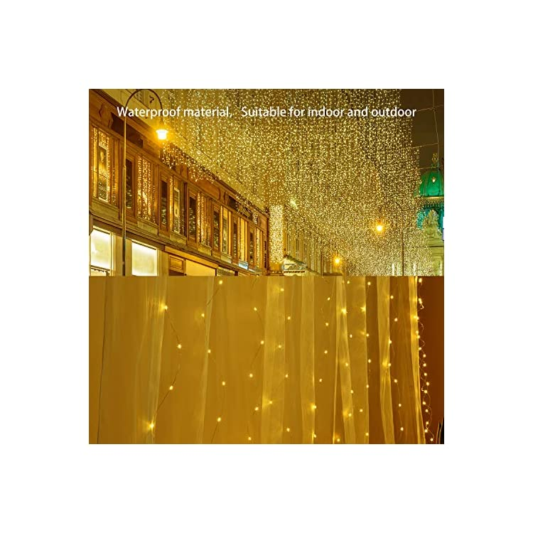 300-LED-Window-Curtain-String-Light-30-Meter-Pro-with-Remote-Timer,-8-Modes-for-Wedding-Party-Home-Garden-Bedroom-Outdoor-Indoor-Wall-Christmas-Decorations