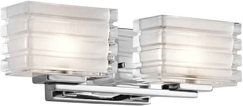 45478CH,-Bazely-Glass-Wall-Vanity-Lighting-with-Shades,-2-Light-Halogen,-Chrome