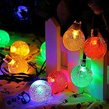 Solar-String-Lights,-Waterproof-20ft-30-LED-Solar-Crystal-Ball-String-Lights,-Indoor-Outdoor-Fairy-Globe-String-Lights,for-Garden,Patio,Christmas,Wedding,Home,-Party-Decoration-(Multicolor)