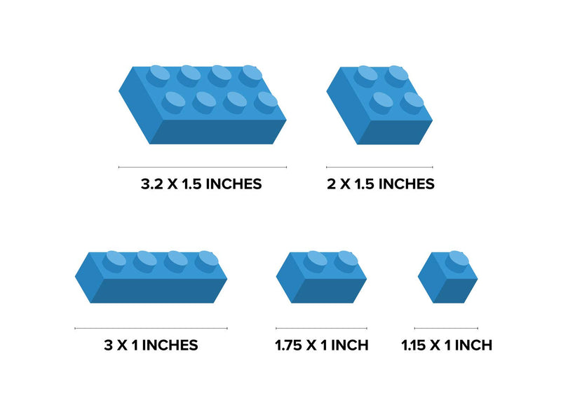 Mini--Building-Block-Bricks-Fabric-Wall-Decals,-Set-of-98-Blocks-in-4-