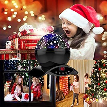 Night-Lighting-Lamp,-Modern-Star-Rotating-Sky-Projection,-Romantic-Star-Projector-Lamp-for-Kids,-USB-Rechargeable-&-Remote-Control,-Best-Gifts-for-Kids,Bedroom(Upgrade)