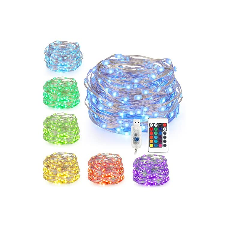 LED-Fairy-String-Lights,-Battery-Powered-Remote-Control-String-Lights-Multi-Color-Changing-Twinkle-Lights,-33FT-100-LED-USB-Plug-for-Indoor-Outdoor-Bedroom-Ceiling-Wedding-Decoration,-16-Colors
