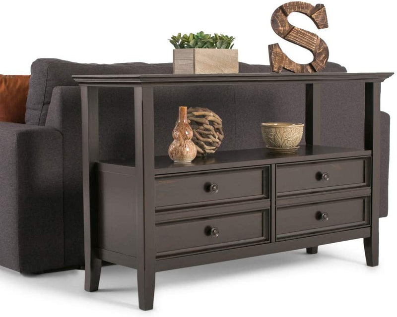 Amherst-Sofa-Console-Tables,-Hickory-Brown