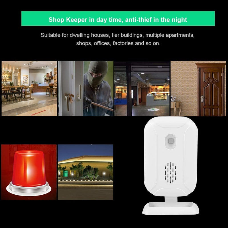 Door-Dinger-for-Business,-36-Ringtones-Wireless-Welcome-Doorbell-Infra