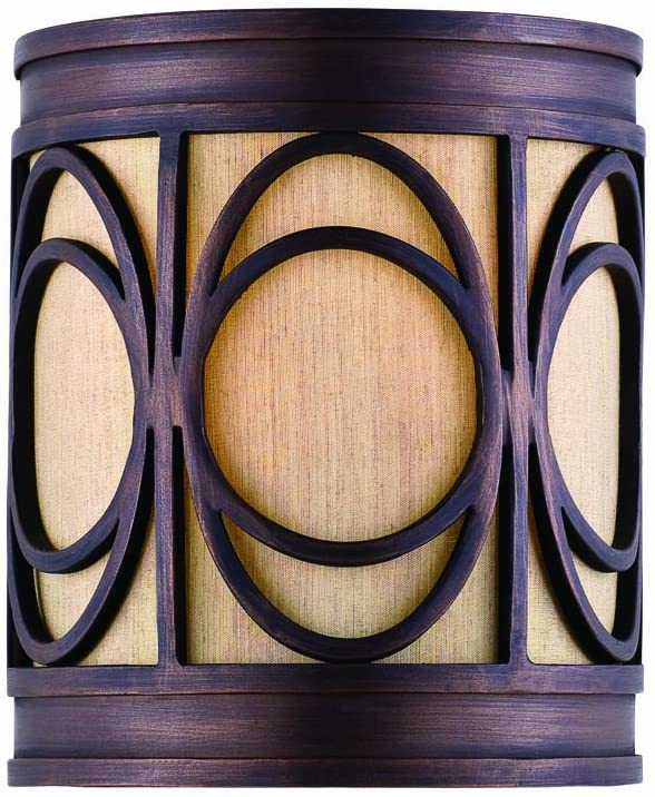 9174WSCGB-Sconce-with-Amber-Alba-Shades,-Golden-Bronze-Finish