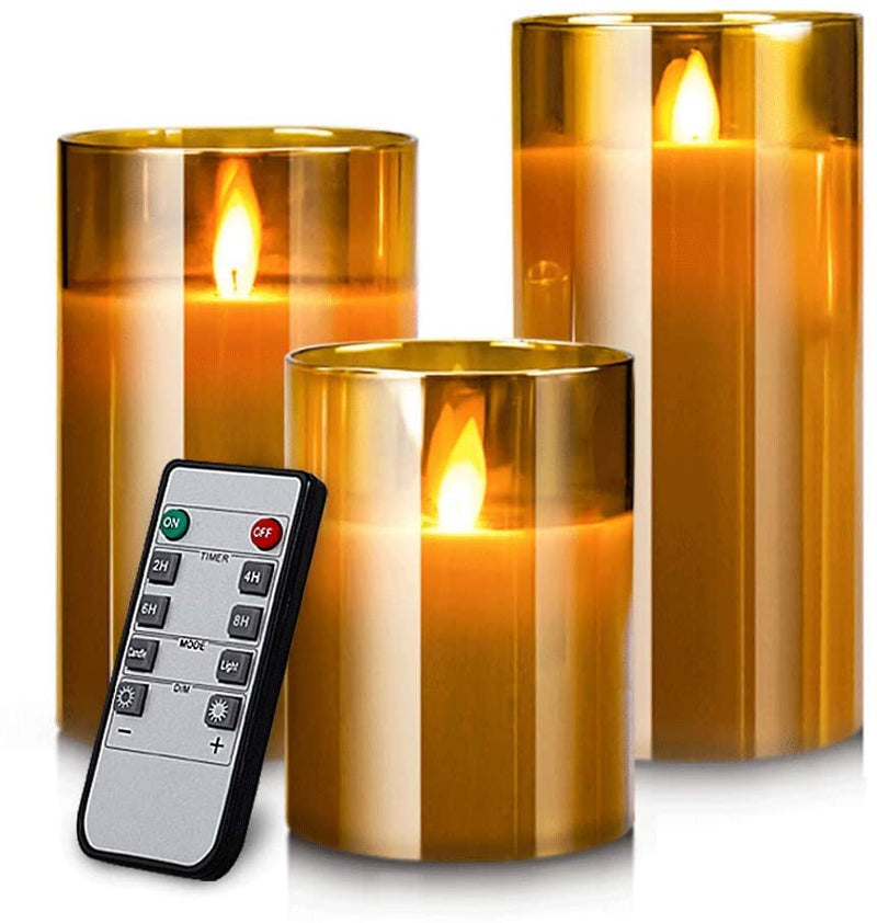 LED-Flameless-Candles,-Battery-Operated-Flickering-Candles-Pillar-Real