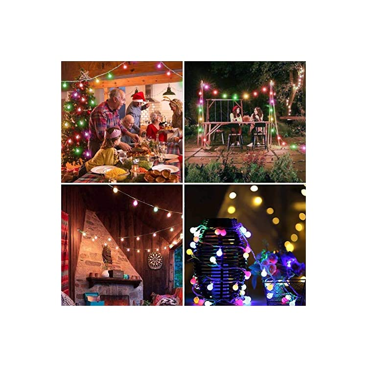Color-Changing-Christmas-Lights,-LED-String-Lighting,-6.6Ft/20LEDs-Transparent-Cable-Waterproof-Lights-for-Thanksgiving-Wedding-Party-Home-Cafe-Pavilion-Patio-Outdoor/Indoor-Décor(Multi-Color)