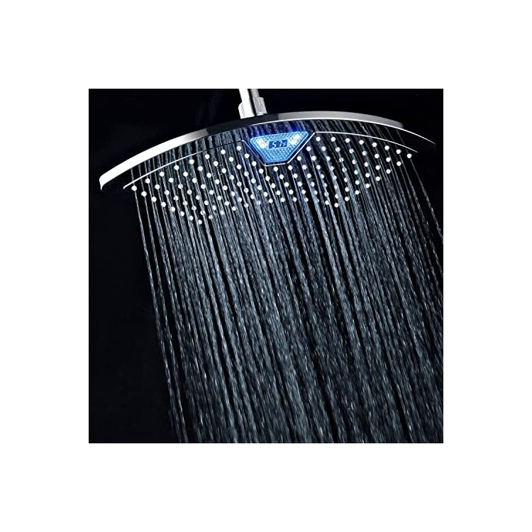 AquaFan-12-inch-All-Chrome-Rainfall-LED-Shower-Head-with-Color-Changing-LED/LCD-Temperature-Display