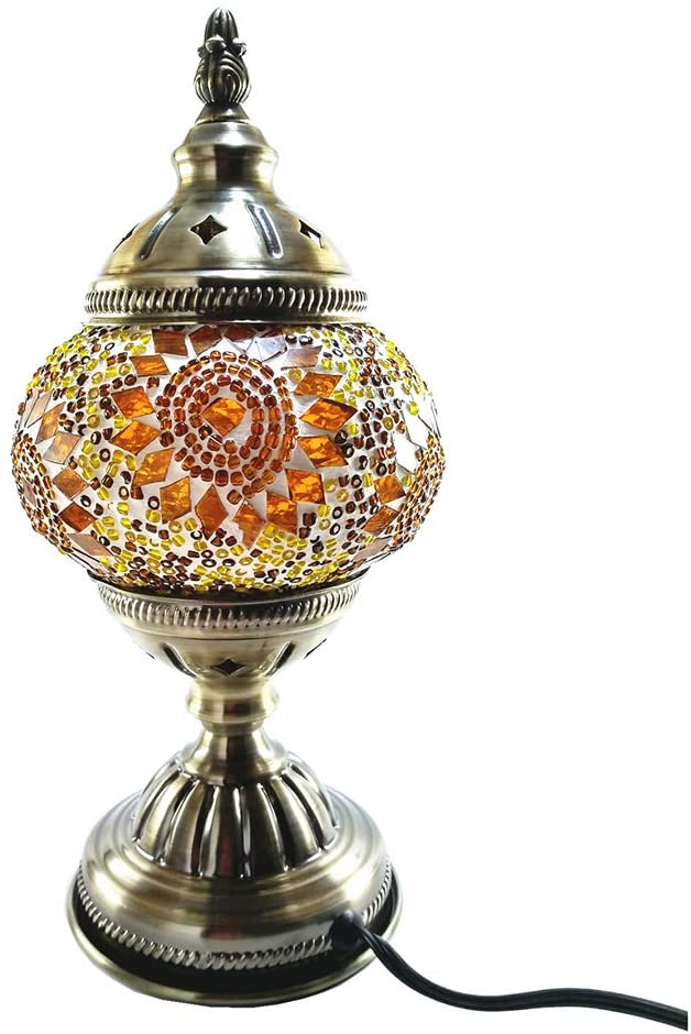 Handcrafted-Turkish-Mosaic-Glass-Table-Lamp|Great-Home-Decor-for-Livin