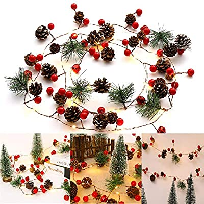 Christmas-String-Light-Creative-Pinecone-Bell-Berries-Decor-Fairy-String-Light-20-LEDs-String-Light-6.56ft.-Battery-Powered-(20Led)