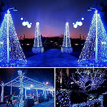 Solar-Power-String-Lights,Fariy-Lights-66ft-200LED-Christmas-Decorative-Lights-IP65-Waterproof-String-for-Indoor/Outdoor-for-Gardens,-Patios,-Homes,-Parties